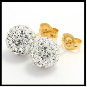 Swarovski Crystal 8mm Ball Stud Earrings
